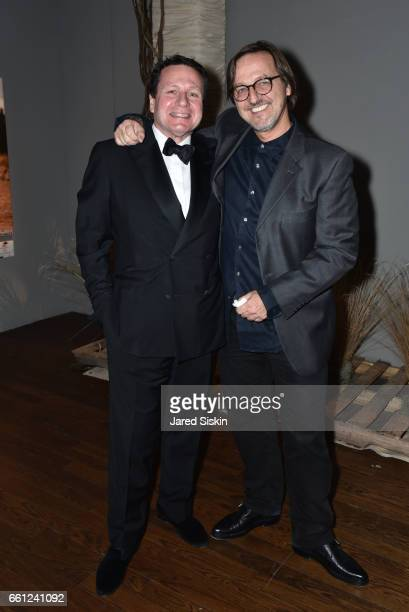 Peter Mann and Luca Babini attend the First Annual Medair Gala at Stephan Weiss Studio on March 30 2017 in New York City