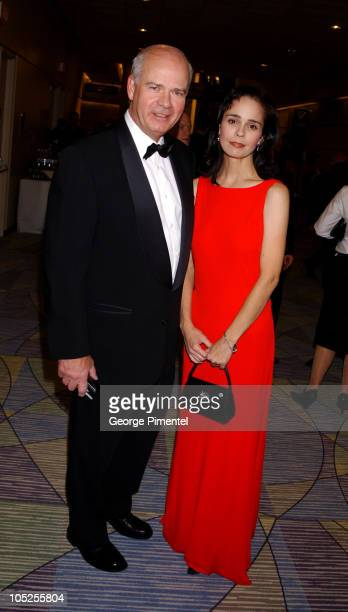 Peter Mansbridge and Cynthia Dale during 2003 18th Annual Gemini Awards - Pre Party at Metro Toronto Convention Centre in Toronto, Ontario, Canada.