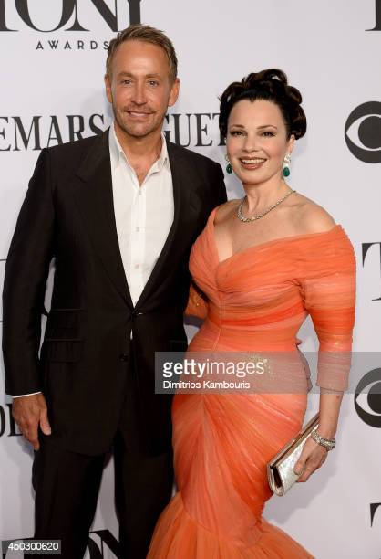 Peter Marc Jacobson and actress Fran Drescher attends the 68th Annual Tony Awards at Radio City Music Hall on June 8, 2014 in New York City.