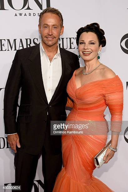 Peter Marc Jacobson and actress Fran Drescher attends the 68th Annual Tony Awards at Radio City Music Hall on June 8 2014 in New York City