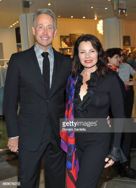 Peter Marc Jacobson and Fran Drescher attend LACMA Director's Circle Celebrates The Wear LACMA Spring/Summer 2017 Collection with Designs by Kendall...