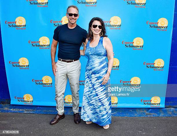 Peter Marc Jacobson and Fran Drescher attend the Fran Drescher And Friends 2015 NYC Gay Pride Kick Off And Father's Day Celebration at Pier 40 on...