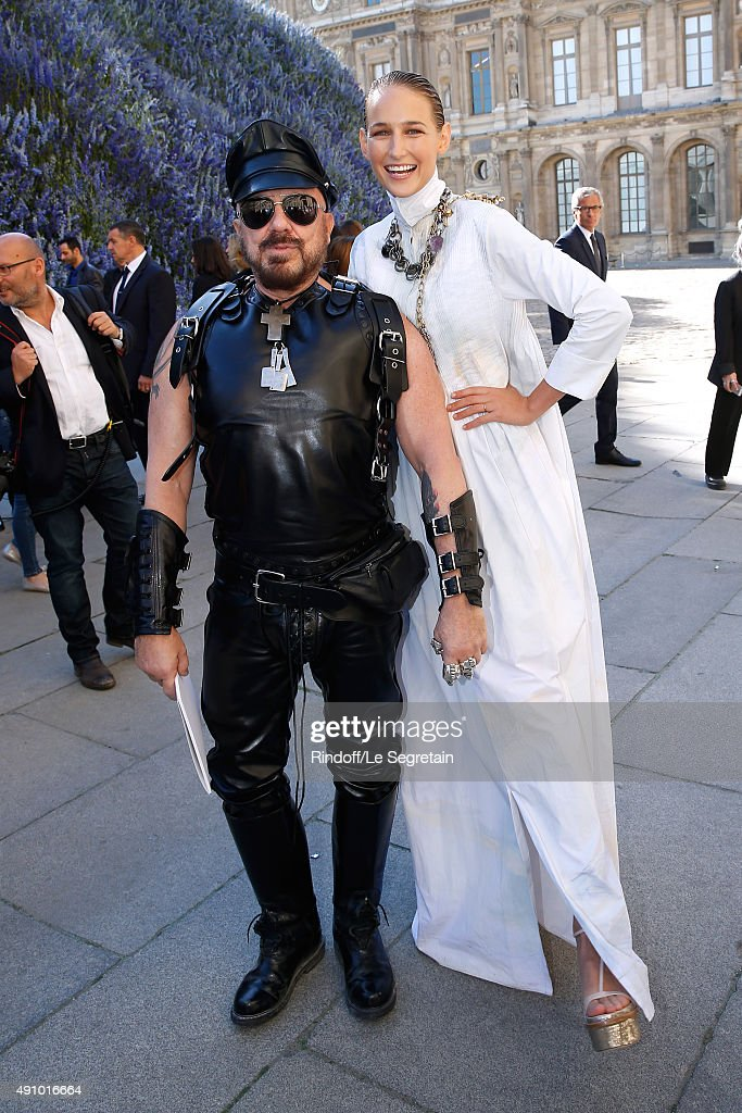 Peter Marino and Actress Leelee Sobieski attend the Christian Dior show as part of the Paris Fashion Week Womenswear Spring/Summer 2016. Held at Cour Carre du Louvre on October 2, 2015 in Paris, France.
