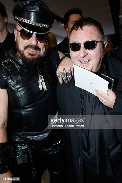 Peter Marino and Alber Elbaz attend the Christian Dior show as part of the Paris Fashion Week Womenswear Spring/Summer 2017 on September 30 2016 in...
