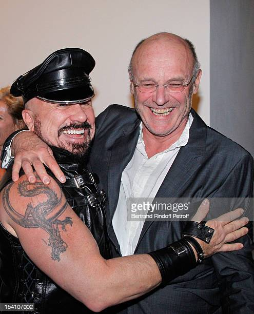 Peter Marino and Anselm Kiefer attend the opening of Thaddaeus Ropac's new gallery on October 13 2012 in Pantin France