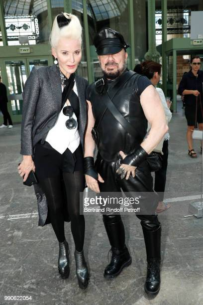 Peter Marino and Daphne Guinness attend the Chanel Haute Couture Fall Winter 2018/2019 show as part of Paris Fashion Week on July 3 2018 in Paris...