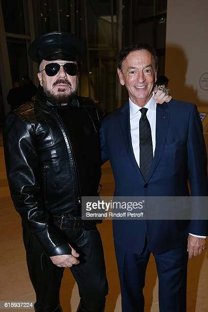 Peter Marino and Director of sponsorship LVMH JeanPaul Claverie attend the 'Icones de l'Art Moderne La Collection Chtchoukine' Cocktail at Fondation...