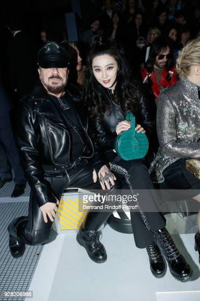 Peter Marino and Fan Bing Bing attend the Louis Vuitton show as part of the Paris Fashion Week Womenswear Fall/Winter 2018/2019 on March 6 2018 in...