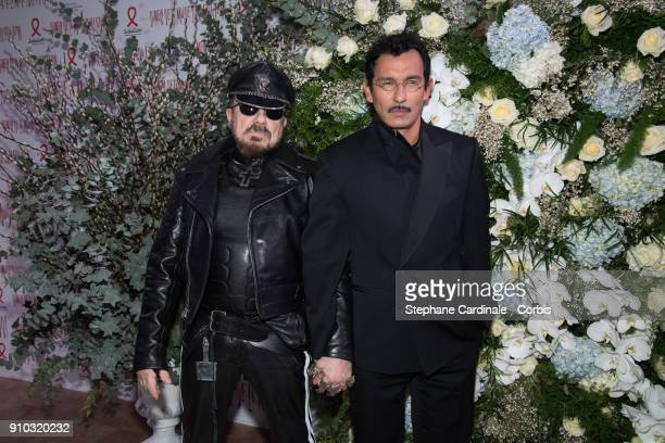 Peter Marino and Haider Ackermann attend the 16th Sidaction as part of Paris Fashion Week on January 25 2018 in Paris France