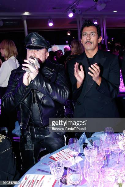 Peter Marino and Haider Ackermann pay tribute to Pierre Berge during the 16th Sidaction as part of Paris Fashion Week on January 25 2018 in Paris...