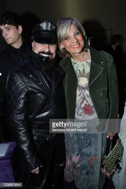 Peter Marino and Helene Arnault attend the Dior Haute Couture Spring/Summer 2020 show as part of Paris Fashion Week on January 20 2020 in Paris France