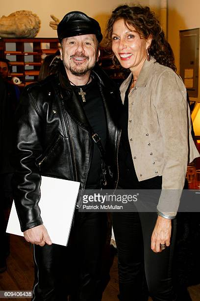 Peter Marino and Jacqueline Schnabel attend KARL LAGERFELD GREEK REVIVAL Exhibition hosted by PIERRE PASSEBON at DELORENZO Gallery on December 17,...