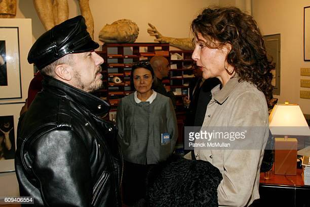 Peter Marino and Jacqueline Schnabel attend KARL LAGERFELD GREEK REVIVAL Exhibition hosted by PIERRE PASSEBON at DELORENZO Gallery on December 17...