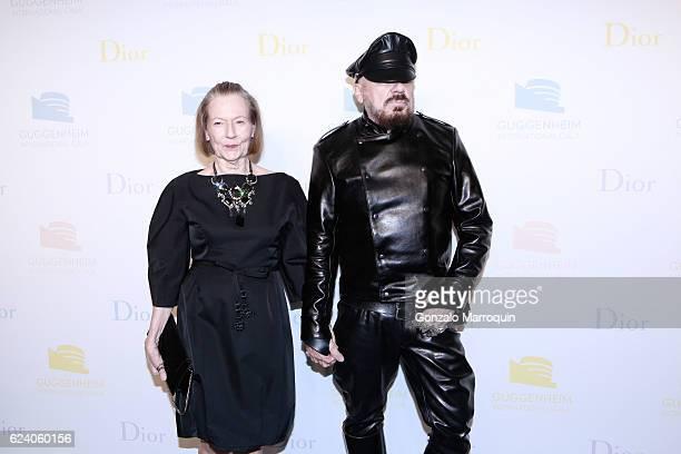 Peter Marino and Jane Trapnell at the 2016 Guggenheim International Gala at Solomon R. Guggenheim Museum on November 17, 2016 in New York City.