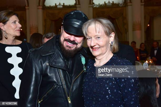 Peter Marino and Jane Trapnell attend Sidney Toledano and Peter Marino being honored at French Institute Alliance Francaise's Trophee des Arts Gala...