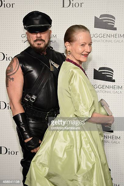Peter Marino and Jane Trapnell attend the Guggenheim International Gala Dinner made possible by Dior on November 6, 2014 in New York City.