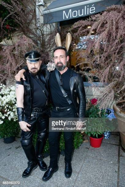 Peter Marino and Juan Carlos Menendez attend the 'The Garden of Peter Marino' Book Signing at 'Moulie Flowers' on May 15 2017 in Paris France Preface...