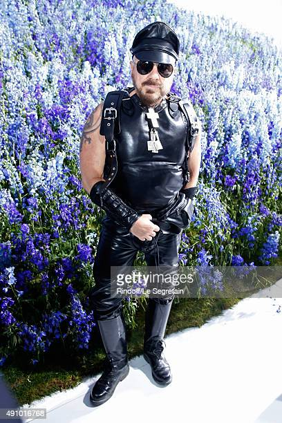 Peter Marino attends the Christian Dior show as part of the Paris Fashion Week Womenswear Spring/Summer 2016 Held at Cour Carre du Louvre on October...