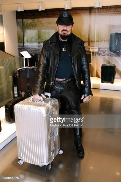 Peter Marino attends the Opening of the Boutique Rimowa 73 Rue du Faubourg Saint Honore in Paris on March 6 2017 in Paris France
