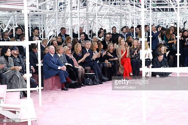 Peter Marino Baron and Baroness Albert Frere Bernadette Chirac Ambassador of USA in France Jane D Hartley Owner of LVMH Luxury Group Bernard Arnault...