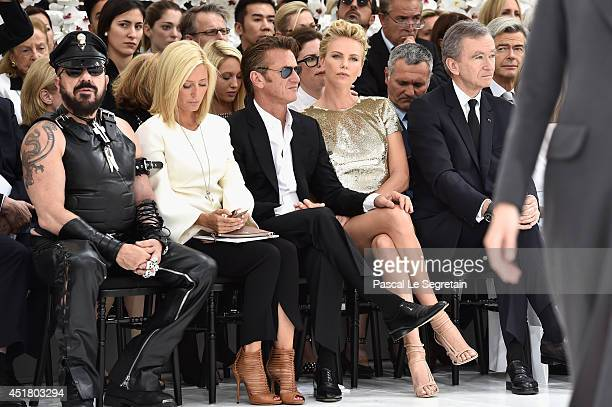 Peter Marino, Crown Princess Marie Chantal of Greece , Sean Penn, Charlize Theron and Bernard Arnault attend the Christian Dior show as part of Paris...