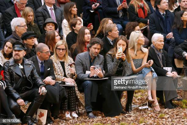 Peter Marino Jonathan Newhouse guest guest Princess Alexandra of Hanover Soo Joo Park and Micheline Chaban Delmas attend the Chanel show as part of...