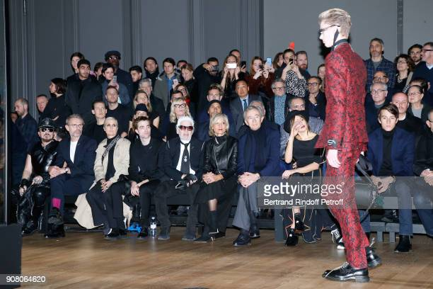 Peter Marino Lambert Wilson Stylist of Dior Woman Maria Grazia Chiuri Robert Pattinson Karl Lagerfeld Helene MercierArnault her husband owner of LVMH...