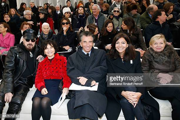 Peter Marino Monique Lang her husband Jack Lang Mayor of Paris Anne Hidalgo and President of Reunion des Musees Nationaux Sylvie Aubac attend the...