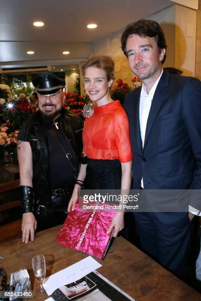 Peter Marino Natalia Vodianova and General manager of Berluti Antoine Arnault attend the 'The Garden of Peter Marino' Book Signing at 'Moulie...