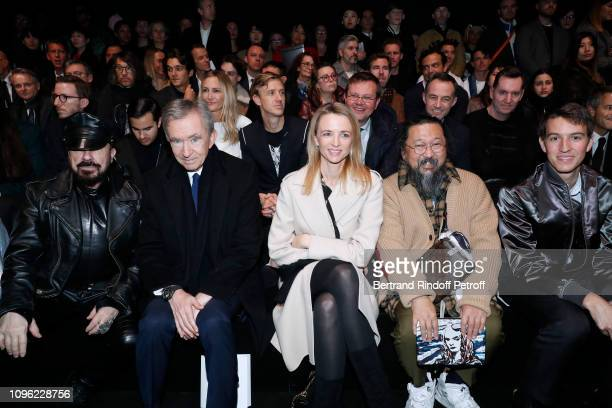 Peter Marino, Owner of LVMH Luxury Group Bernard Arnault, Louis Vuitton's executive vice president Delphine Arnault, Takashi Murakami and CEO of...