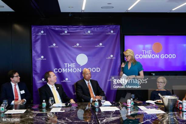 Peter Maroney Adam Schiff Jeh Johnson Patricia Duff and Susan DiMarco during the The Common Good's presents A conversation with Congressman Adam...