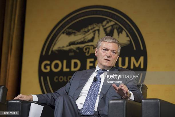 Peter Marrone chairman and chief executive officer of Yamana Gold Inc  speaks during the Denver Gold