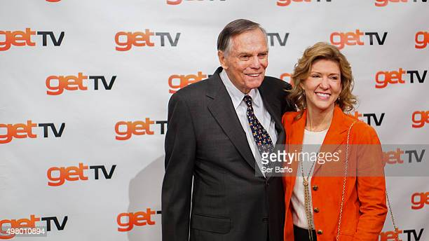 Peter Marshall and guest attend the 50th Anniversary Of The Merv Griffin Show at Sony Pictures Studios on November 19 2015 in Culver City California