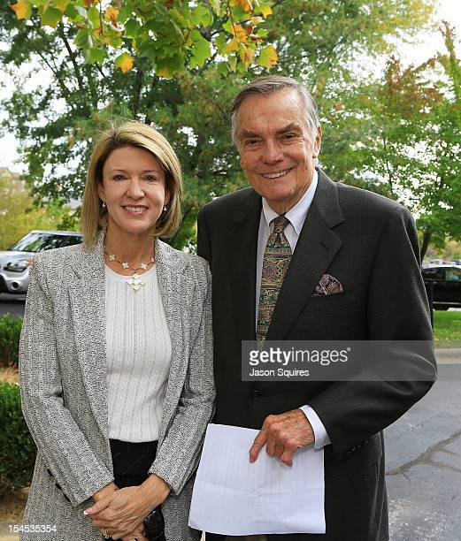 Peter Marshall and wife Laurie attend a memorial service for entertainer Andy Williams on October 21 2012 in Branson Missouri Williams died on...