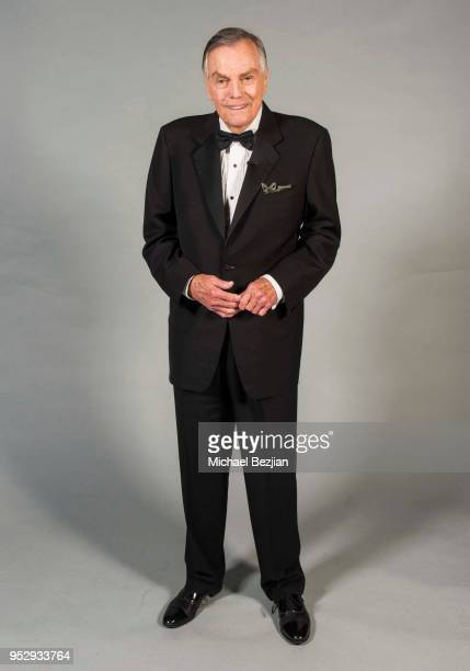Peter Marshall poses for portrait at 45th Daytime Emmy Awards Portraits by The Artists Project Sponsored by the Visual Snow Initiative on April 29...