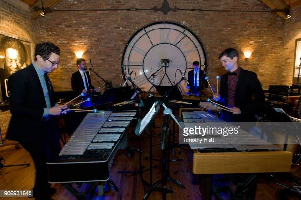 Peter Martin Robert Dillon Sean Connors and David Skidmore of Third Coast Percusion perform at the Recording Academy Chicago Chapter Nominee...