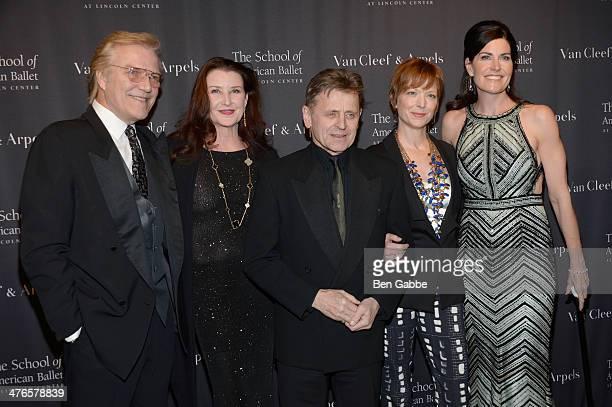 Peter Martins, Darci Kistler, Mikhail Baryshnikov, Lisa Rinehart and Dianna DiMenna attend the School of American Ballet's 2014 Winter Ball at David...