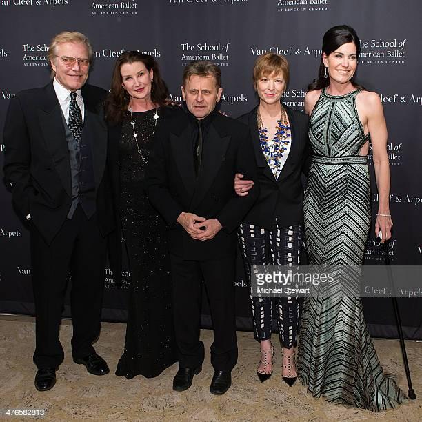 Peter Martins, Darci Kistler, Mikhail Baryshnikov, Lisa Rinehart and Diana DiMenna attend the School Of American Ballet's 2014 Winter Ball at David...
