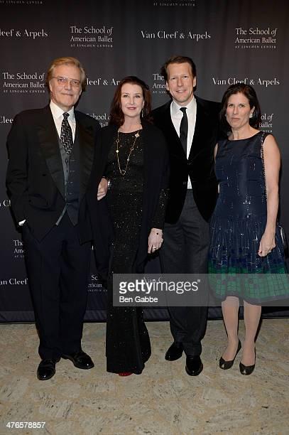 Peter Martins, Darci Kistler, Nicholas Luchsinger and Marjorie Van Dercook attend the School of American Ballet's 2014 Winter Ball at David Koch...