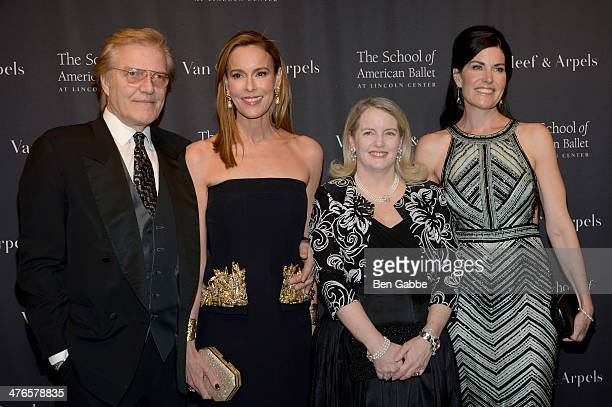 Peter Martins, Julia Koch, Serena Lese and Diana DiMenna attend the School of American Ballet's 2014 Winter Ball at David Koch Theatre at Lincoln...