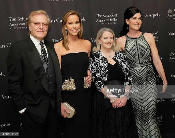 Peter Martins, Julia Koch, Serena Lese and Diana DiMenna attend the School of American Ballet 2014 Winter Ball at David Koch Theatre at Lincoln...