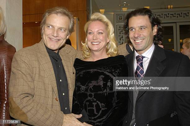 "Peter Martins Nina Griscom and Leonel Piraino during Hermes Hosts KickOff Cocktail Party for School of American Ballet's ""An Enchanted Evening"" at..."
