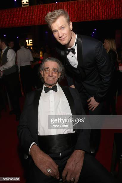 Peter Mayhew and Actor Joonas Suotamo at the world premiere of Lucasfilm's Star Wars: The Last Jedi at The Shrine Auditorium on December 9, 2017 in...