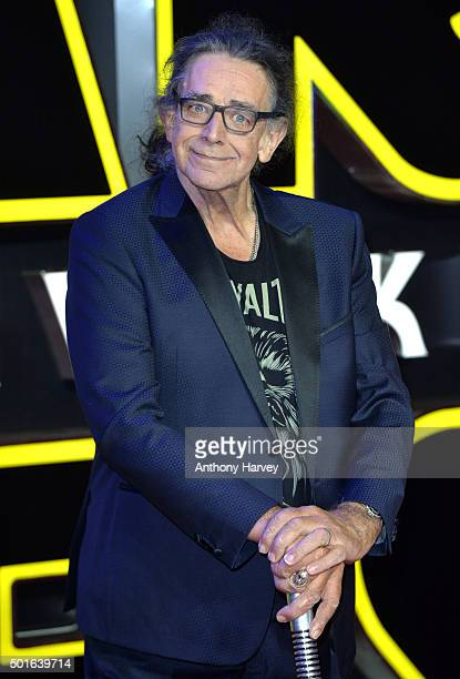 """Peter Mayhew attends the European Premiere of """"Star Wars: The Force Awakens"""" at Leicester Square on December 16, 2015 in London, England."""