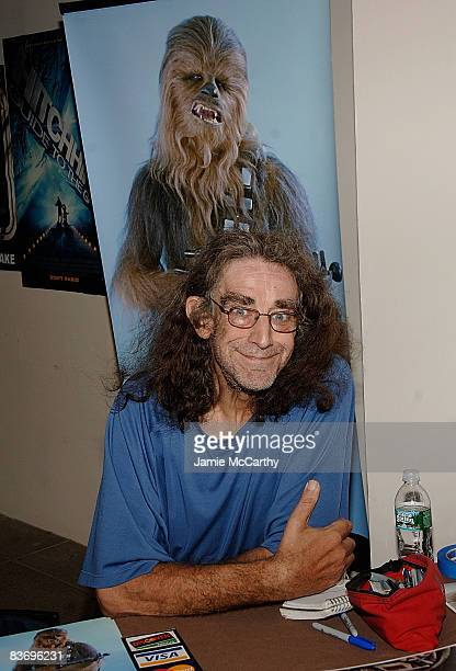 Peter Mayhew Chewbacca of Star Wars attends the 2008 National Big Apple Comic Book Art Toy SciFi Expo at the Penn Plaza Pavilion on November 14 2008...
