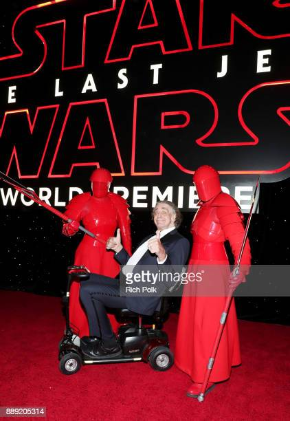 Peter Mayhew with the Praetorian Guard at Star Wars The Last Jedi Premiere at The Shrine Auditorium on December 9 2017 in Los Angeles California