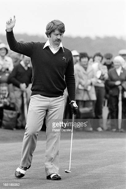 Peter McEvoy of Engalnd during the final day of the 1979 Walker Cup Matches at the Honourable Company of Edinburgh Golfers Muirfield on May 31 1979...