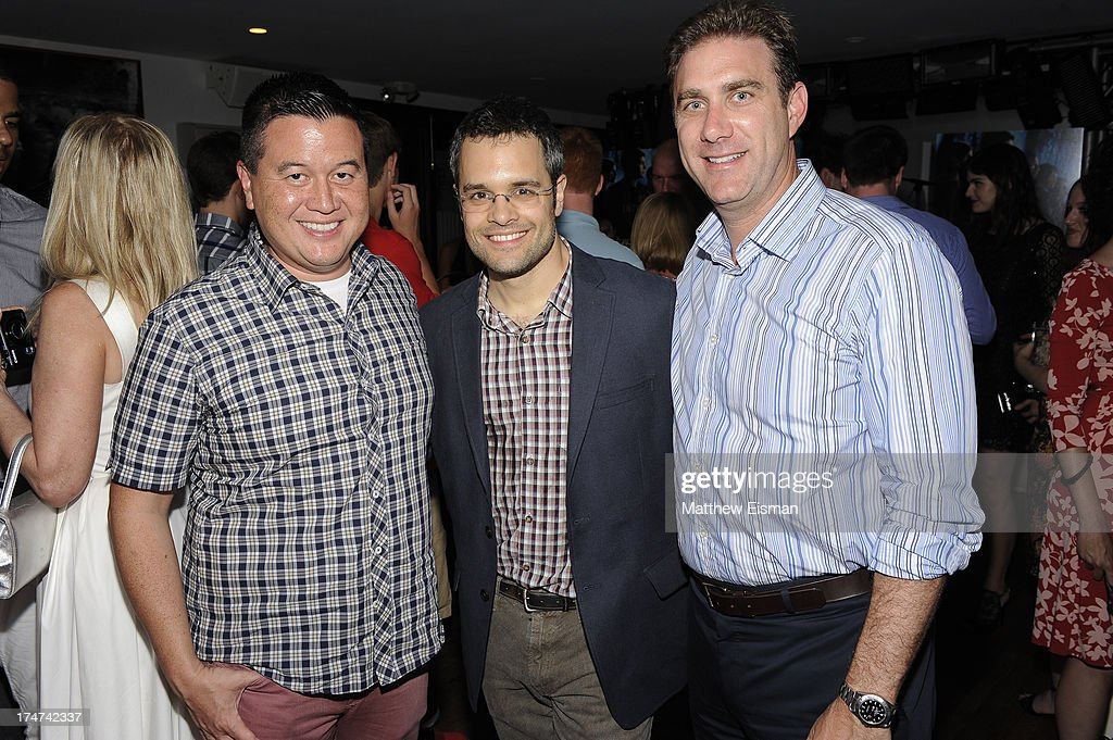 Peter McHugh, Thor Freudenthal and Abram Nalibotsky attend 'Percy Jackson: Sea Of Monsters' Hamptons Premiere afterparty at 75 Main Street on July 28, 2013 in Southampton, New York.