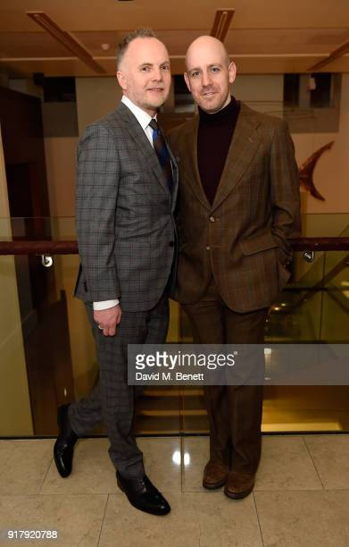 Peter McKintosh and Robert Hastie attend the press night after party for 'The York Realist' at The Hospital Club on February 13 2018 in London England