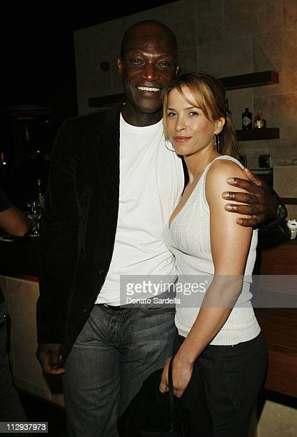 Peter Mensah and Christina Cox during Gucci and Joe Zee Private Dinner Honoring Rihanna at Private Residence in Los Angeles CA United States